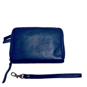 Lucky Brand Leather Wallet or Wristlet Blue